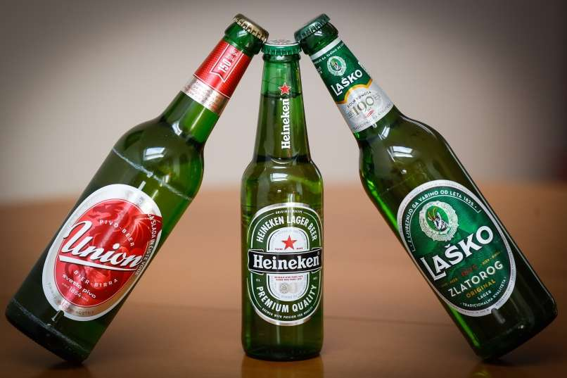 Cervezas Union y Lasko, típicas de Eslovenia