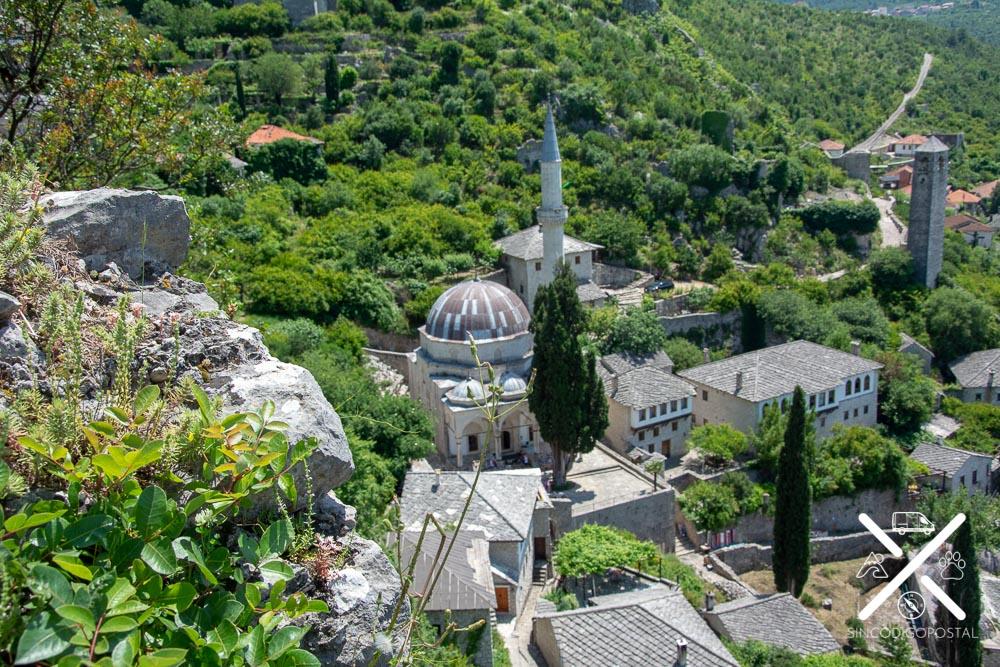 Vista desde lo alto del pueblo de Pocitelj
