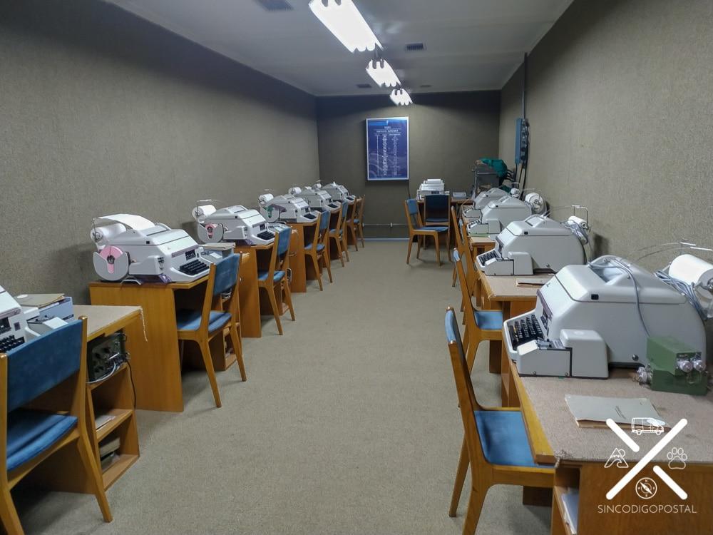 Máquinas de escribir y transcripción de mensajes