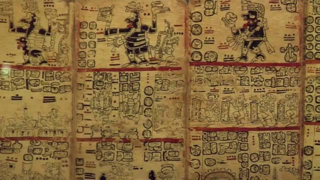 Códice azteca en el Museo de las Américas