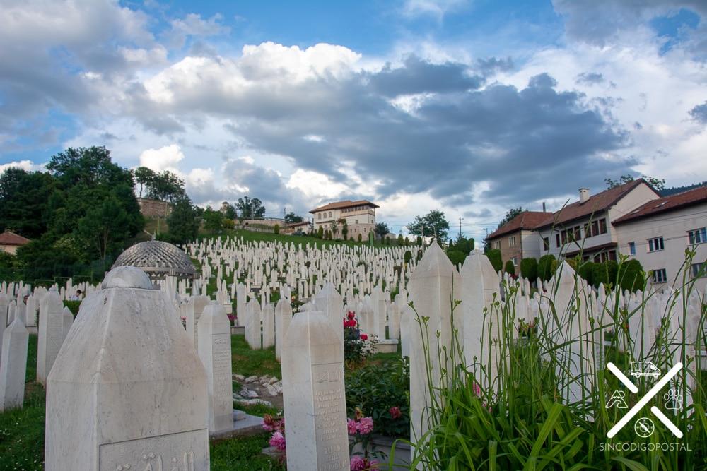Cementerio creado para los caídos en la guerra