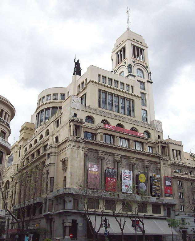 Fachada del edificio del Circulo de Bellas Artes