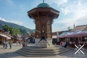 Famosa fuente de agua Sarajevo