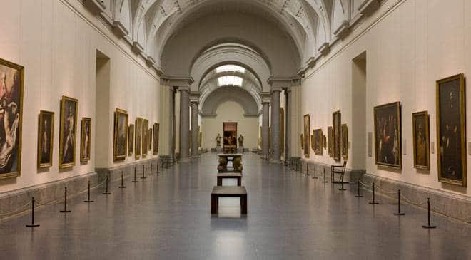 Interior del Museo del Prado en Madrid