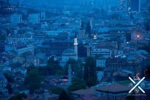 Vistas nocturnas de las mezquitas