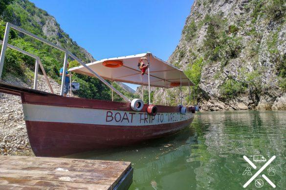 Barcos para visitar el Cañón Matka
