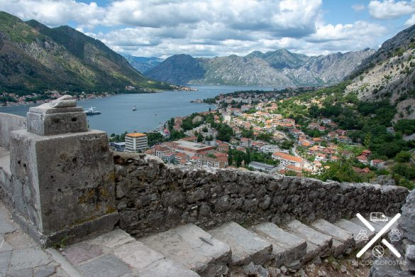Stairs to reach the highest part of the fortress of Kotor