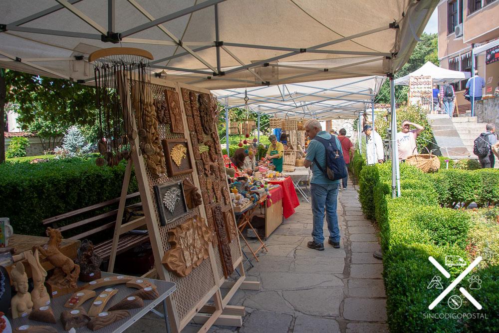 Mercado local del museo etnográfico de Plovdiv