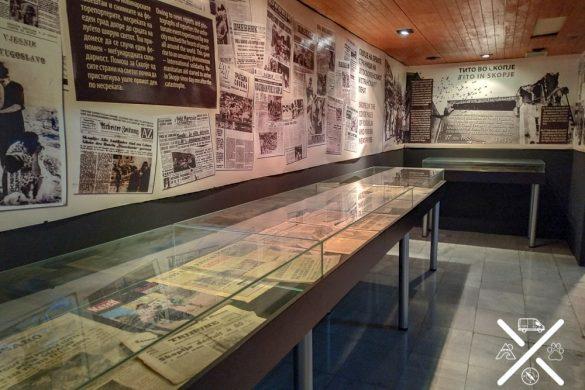 Museo del terremoto de Skopje, exposiciones