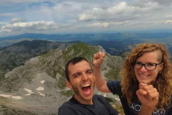 Nosotros por fin en la cima del Bobotov Kuk