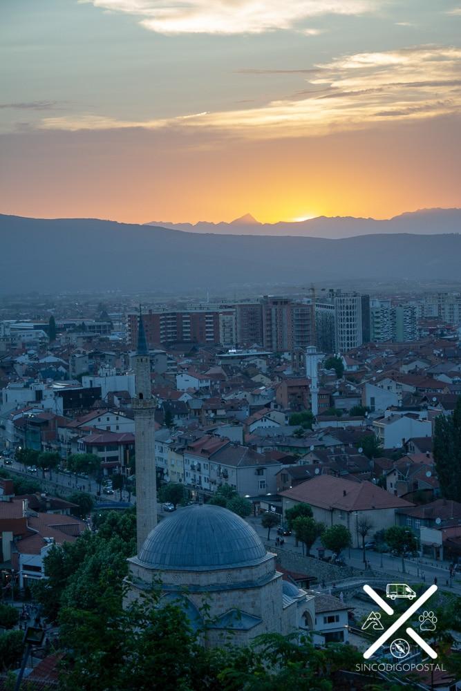 Puesta de Sol desde la Fortaleza de Prizren
