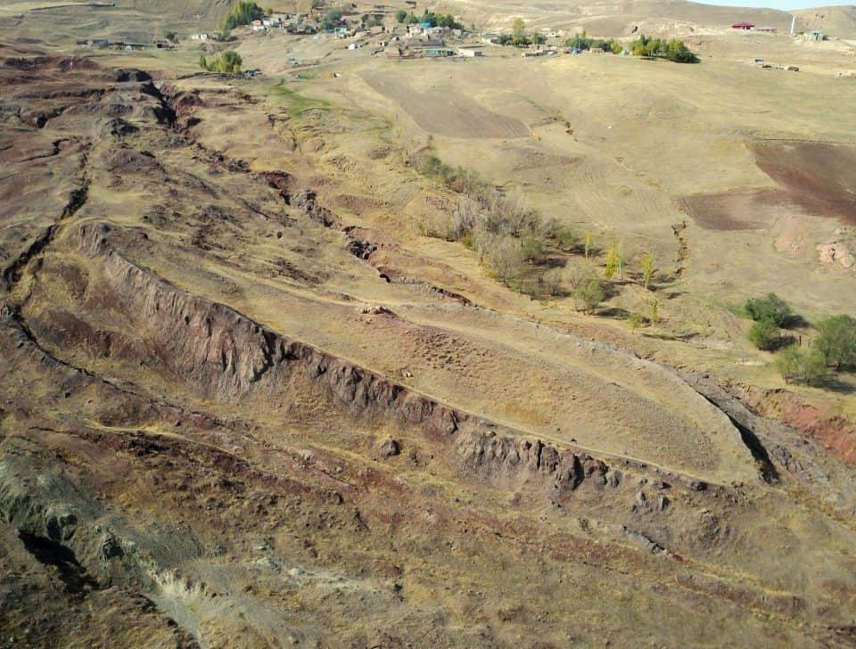 Forma del Arca de Noé, foto aérea Monte Ararat