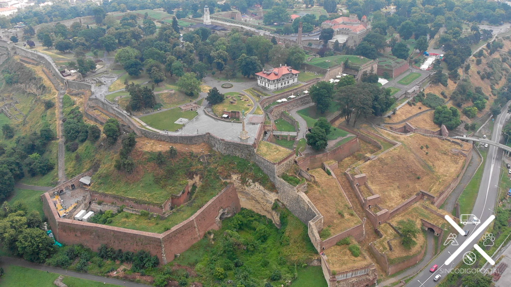 Fortaleza Petrovaradin desde el aire