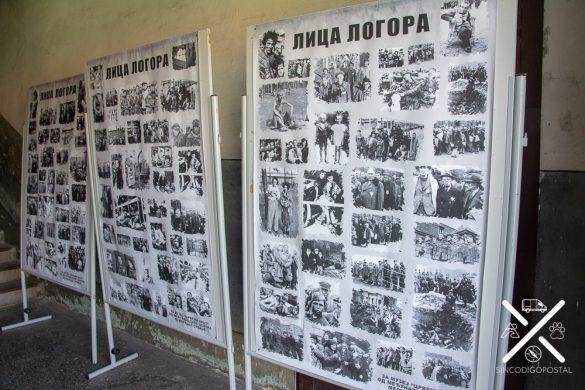 Fotos de la entrada en el Campo de Concentración