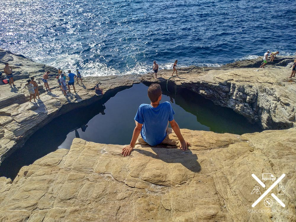Giola Lagoon, la piscina natural de la Isla de Tasos