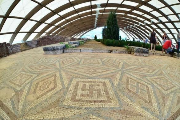 Mediana de Nis, mosaicos