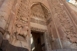 Segunda puerta de entrada a las habitaciones del Palacio de Ishak Pachá