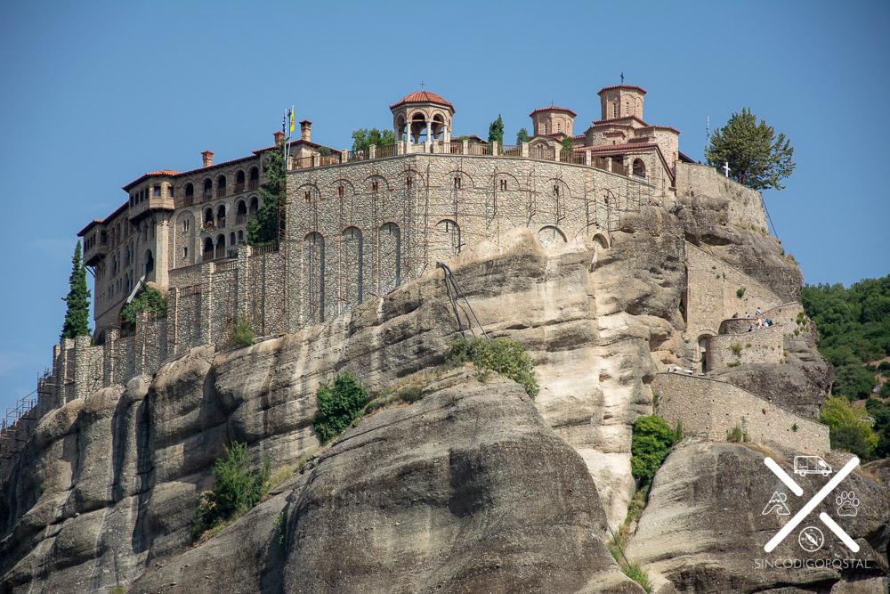 Vistas del gran convento de Meteora