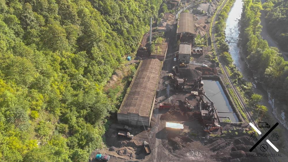 Una de las zonas de trabajo de las minas