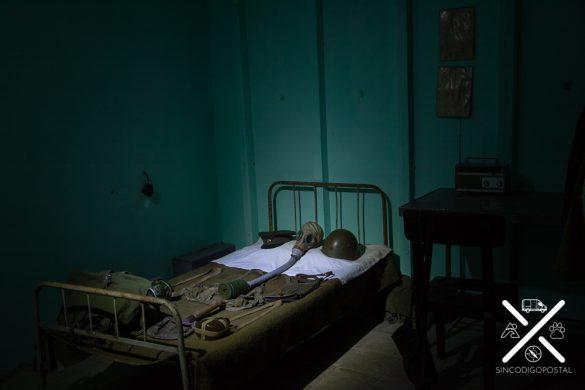 Bunk´art, ejemplo de una habitación en guerra