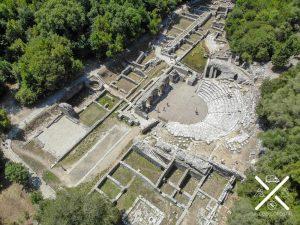 Teatro Romano en la ciudad antigua de Butrinto