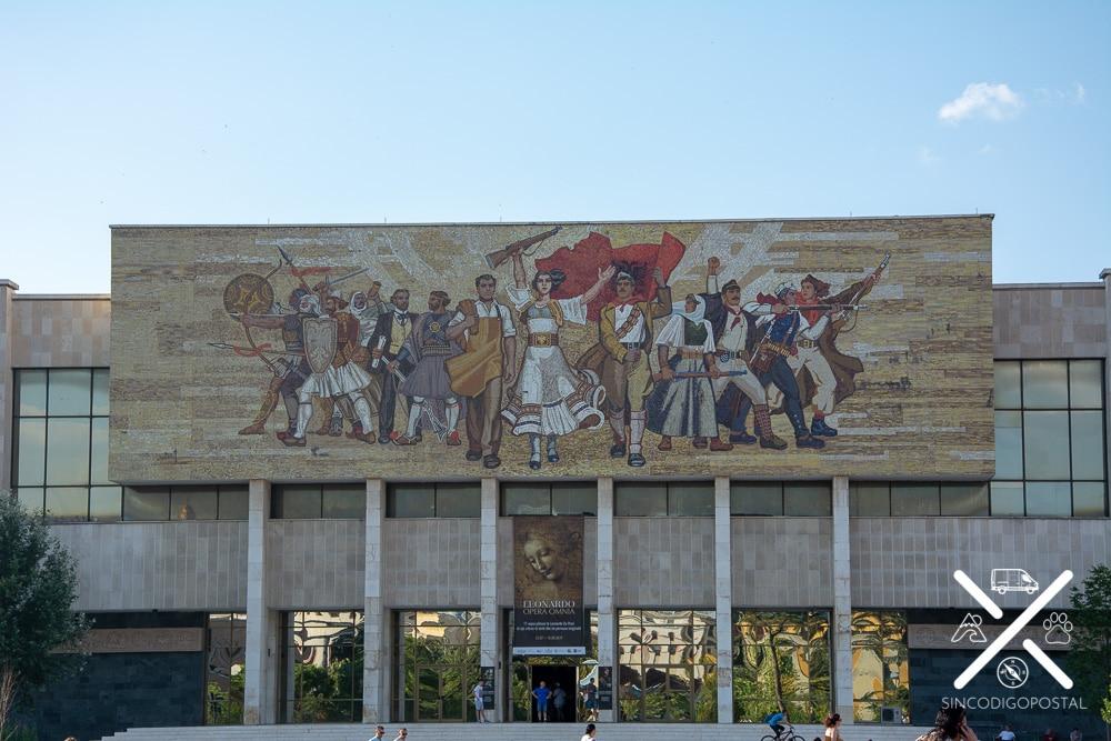 Cuadro Los Albaneses en el Museo Nacional de Historia