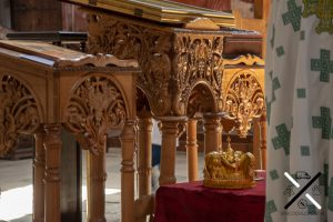 Detalles interiores del Monasterio de Gelati