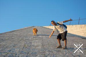 Subiendo a la pirámide de Tirana