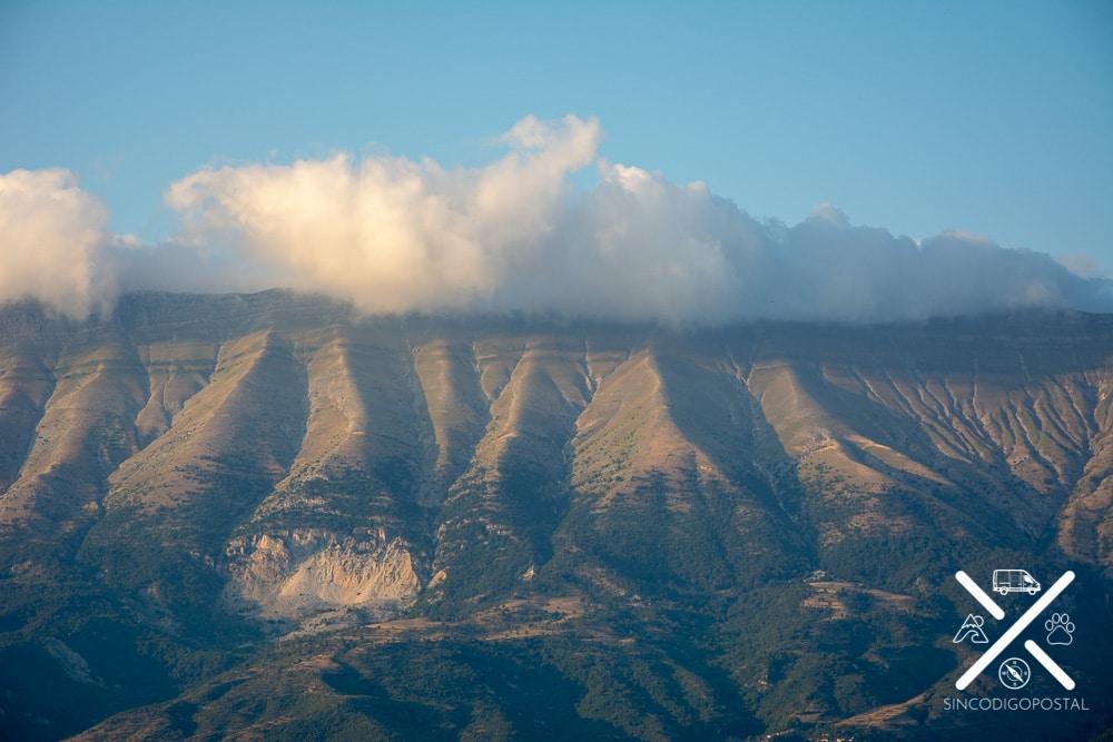 Valle Drina en Albania, vista desde Gjirokastra