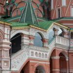 Detalles de la fachada de la preciosa Catedral de San Basilio