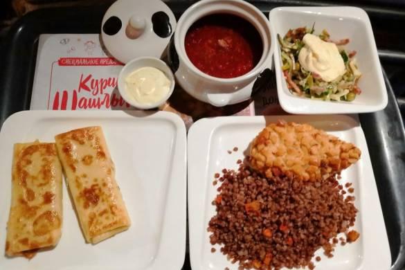 Diferentes platos que se pueden elegir en el restaurante Mu-Mu