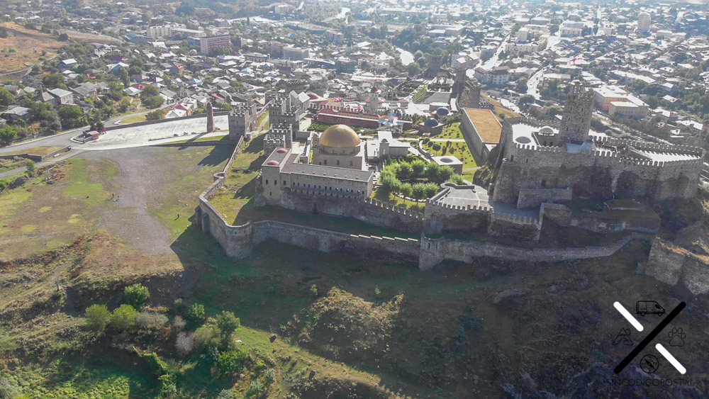 EL Castillo de Rabati visto desde el cielo
