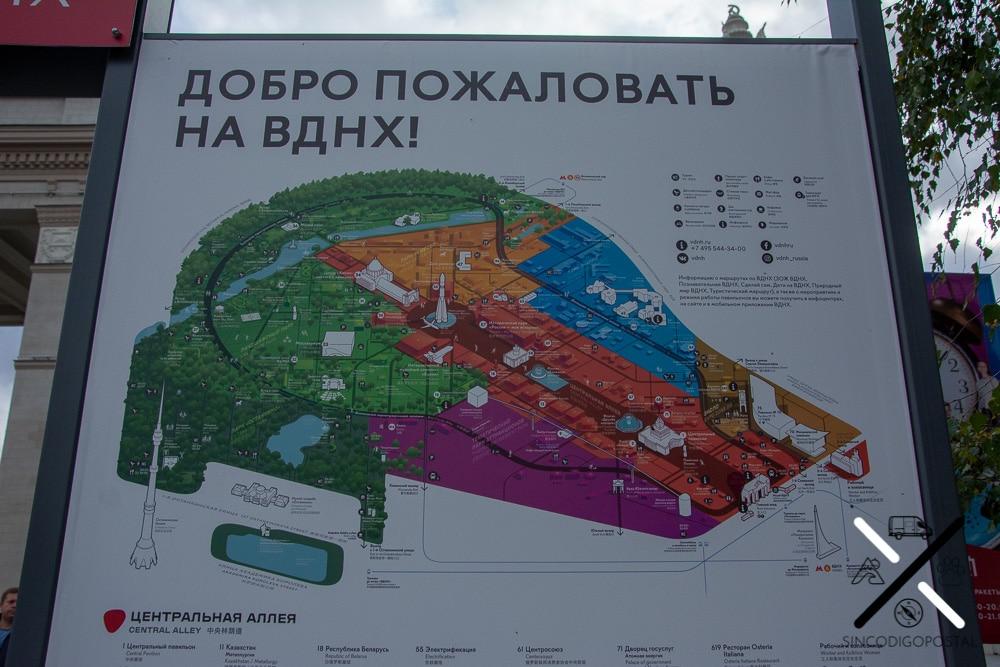 Mapa del gran Parque VDNH