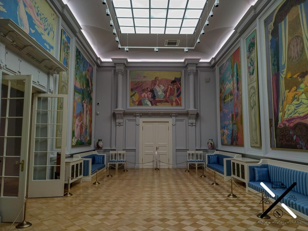 Precioso salón de arte del Museo del Hermitage