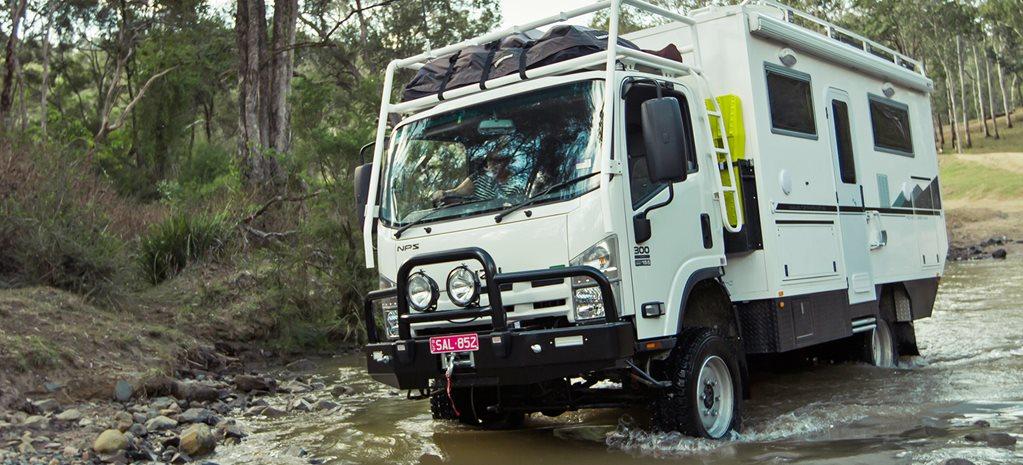 Camión camper 4x4 Isuzu SLR