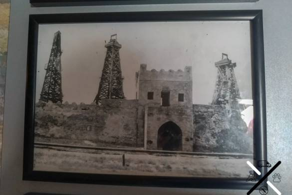 Foto de la explotación que agoto el gas en el Templo del Fuego