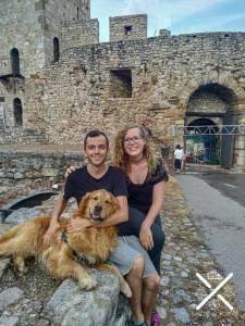 Paseando por la fortaleza de Belgrado, Serbia