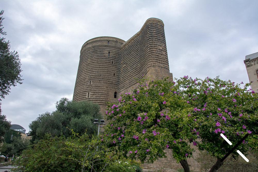 Torre de la Doncella, en la parte vieja de Bakú