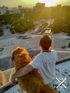 Vistas desde la Pirámide de Tirana, Albania
