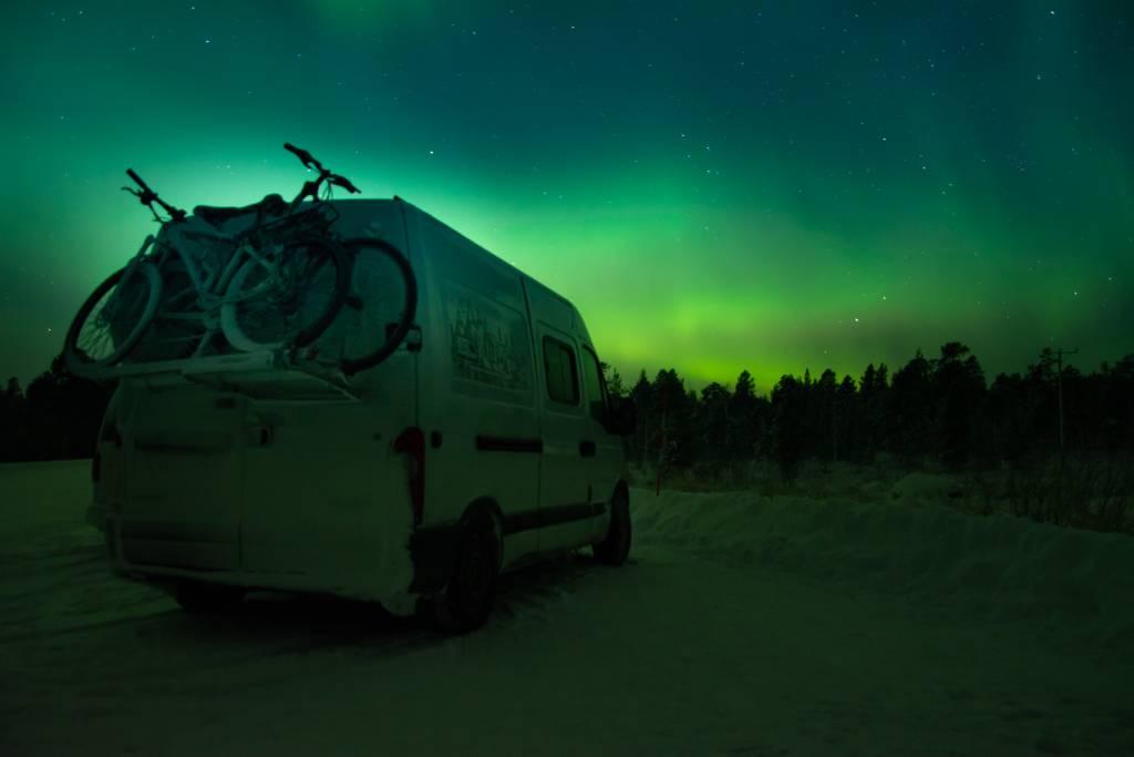 Disfrutando del espectáculo de las auroras boreales