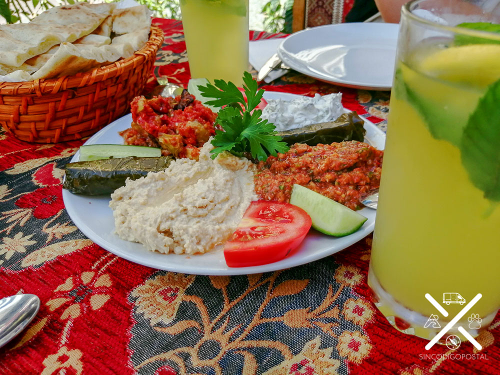 Entrantes vegetarianos en Estambul