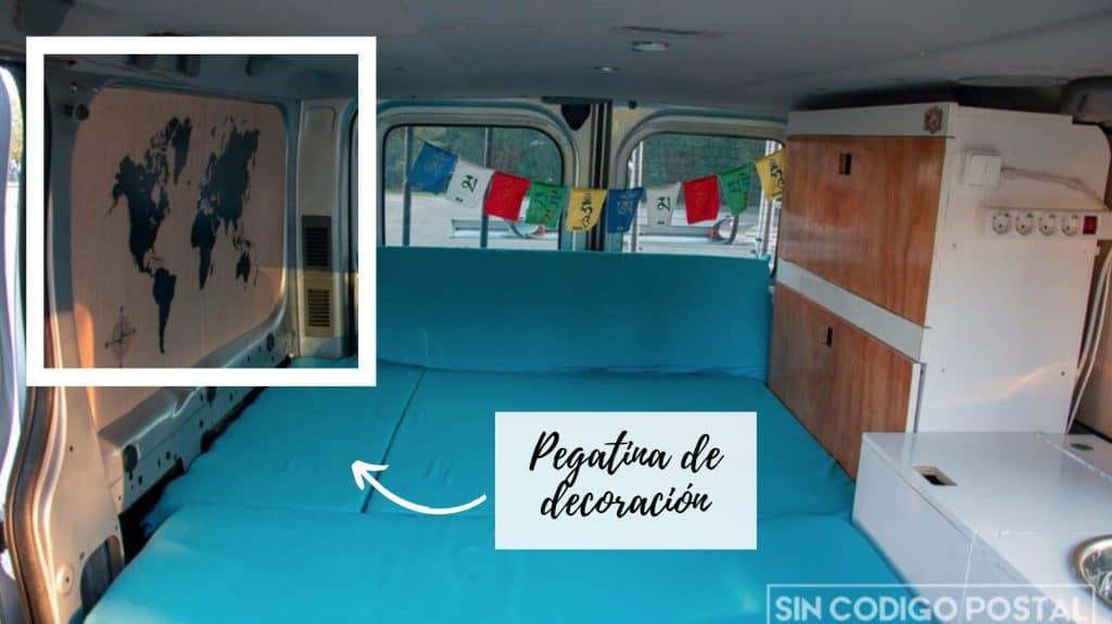Pegatina mapa mundi furgoneta camper