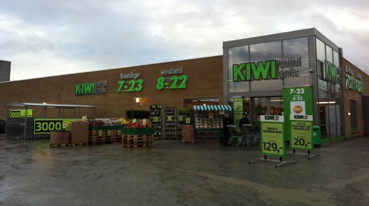 Supermercado Kiwi en Noruega