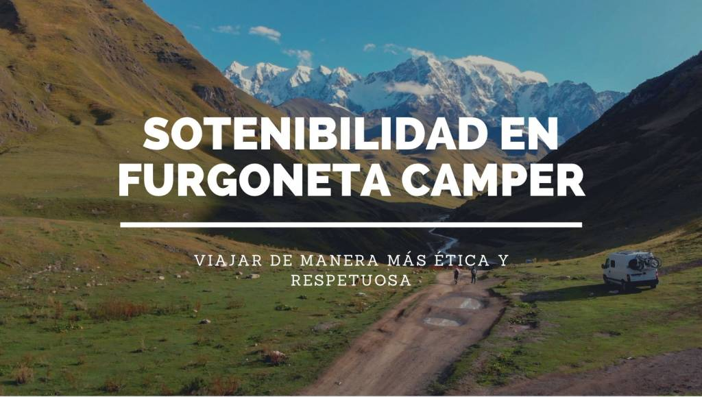viajar en camper de manera sostenible