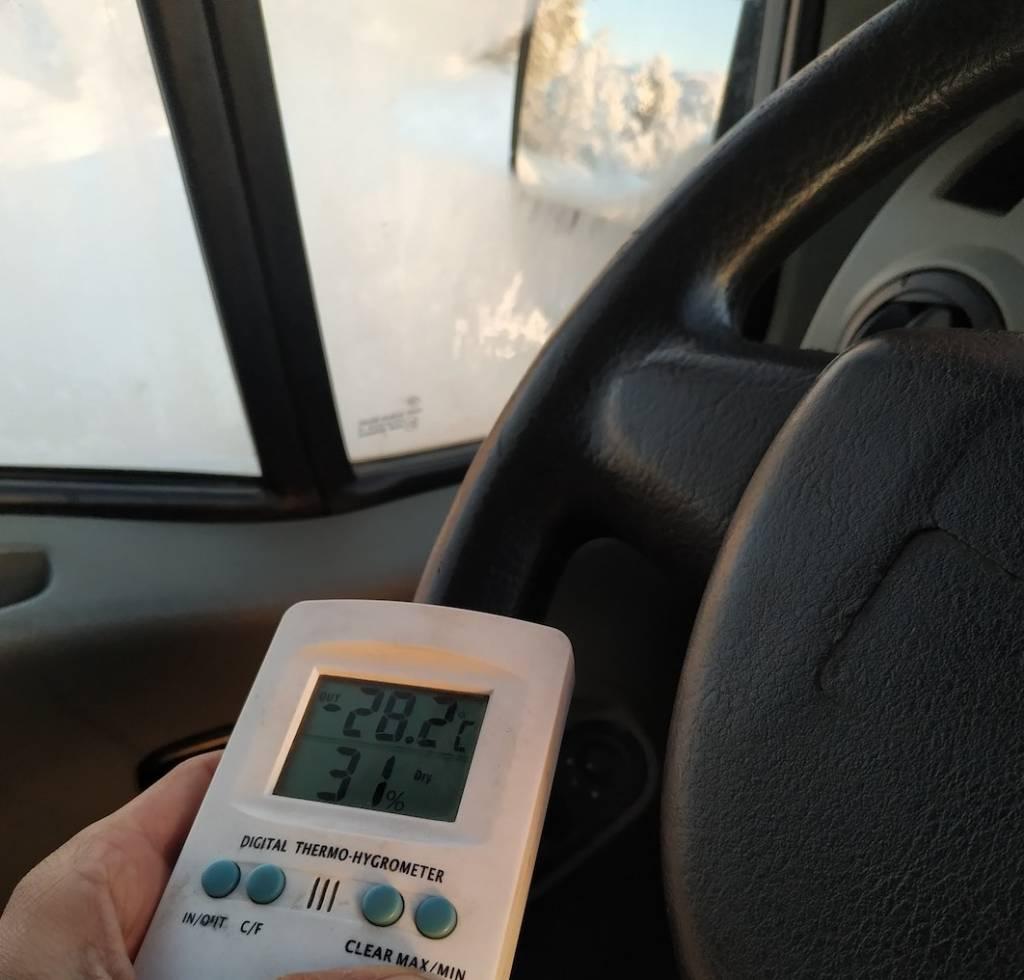 Teníamos que mirar dos veces el termómetro para creernos la temperatura