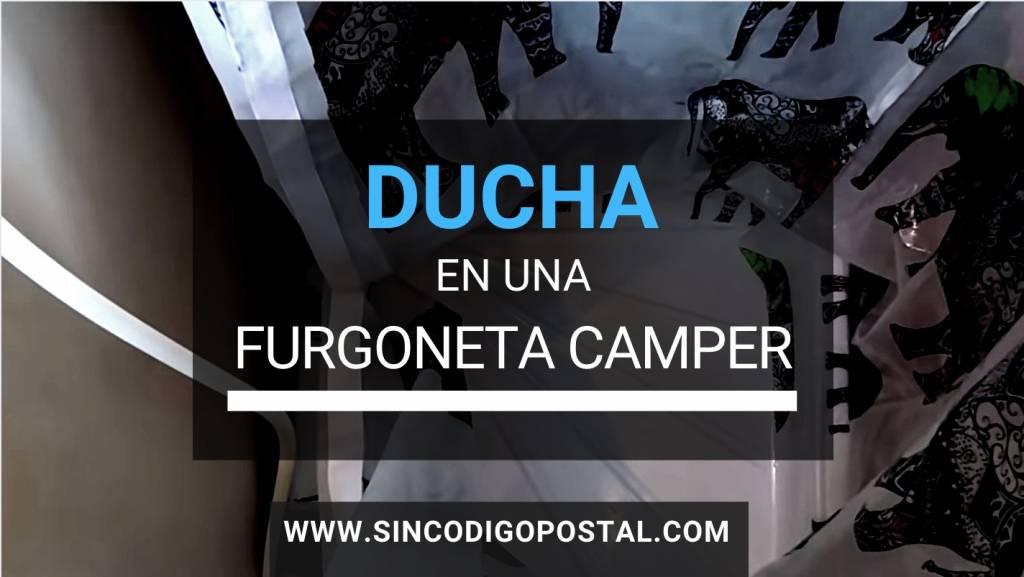 ducha furgoneta camper