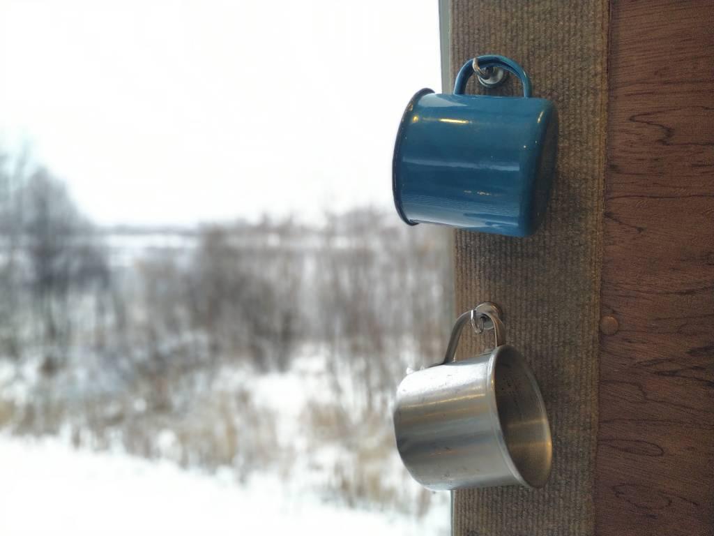 Nuestra vista de la furgo en invierno nos encanta
