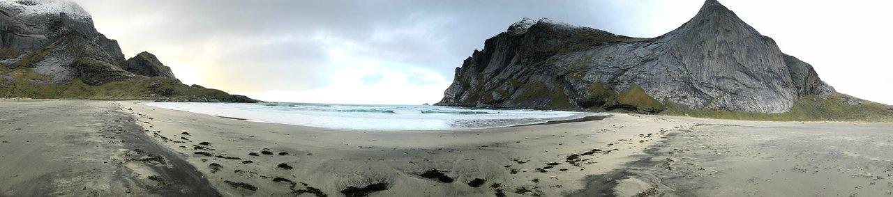 Bunes Beach en islas Lofoten
