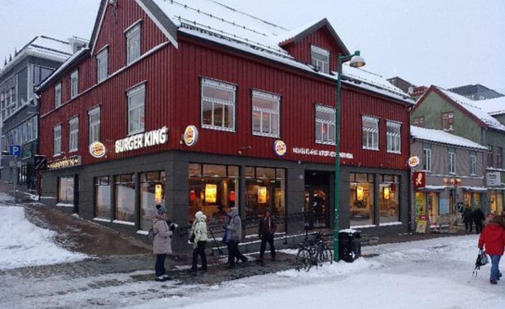 Burguer King Tromso con hamburguesa vegetariana