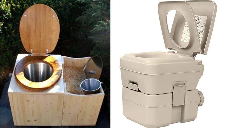 Estilos de potty para furgonetas camper potty con productos químicos y potty seco ecológico